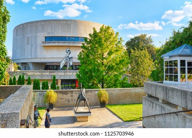 Washington, DC, USA - September 10,2017 : Hirshhorn Museum  located on National Mall. Downtown district.