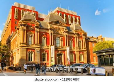 Washington, DC, USA - September 10,2017 : Renwick Gallery of the Smithsonian American Art Museum.
