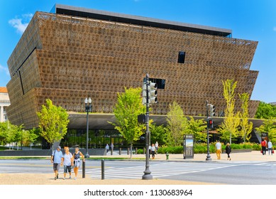 Washington, DC, USA - September 10,2017 : National Museum of African American History and Culture. Downtown district.