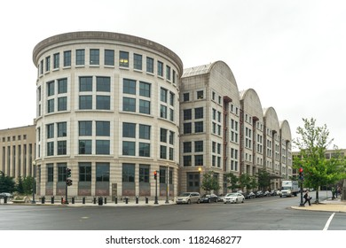 Washington, DC / USA - September 18, 2018: The Federal Courthouse in Washington DC is where Paul Manafort pled guilty and also where Brett Kavanaugh sits on the DC Circuit appellate court.