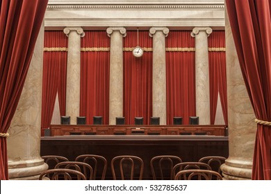 WASHINGTON, DC / USA - September 18, 2020: Justice Ruth Bader Ginsburg of the U.S. Supreme Court died, leaving the Supreme Court with only 8 Justices until a replacement is confirmed.