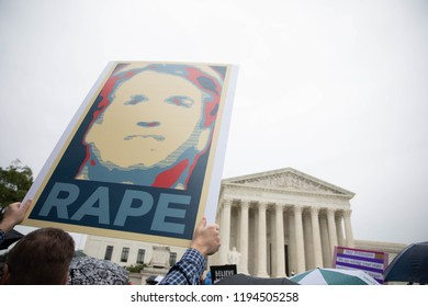 Washington DC, USA, September 27th, 2018- Hundreds gather in DC in support of Dr. Christine Ford as she testifies to the Senate Judiciary Committee.
