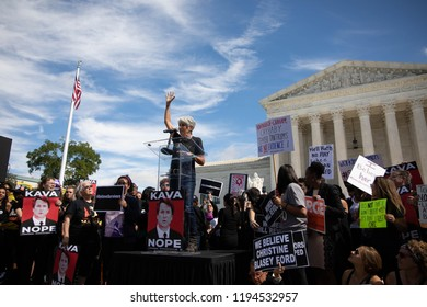 Washington DC, USA, September 28th, 2018- Hundreds gather in DC as the Senate Judicary votes on the nomination of Brett Kavanaugh