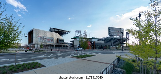 Washington DC, USA - September 3rd, 2018. Exterior of Audi Field,  a soccer-specific stadium in Buzzard Point in Washington, D.C.