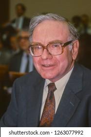 WASHINGTON, DC, USA - SEPTEMBER 4, 1991: Warren Buffett, Chairman Salomon Brothers, appears before U.S. House Subcmte. on Telecommunications.