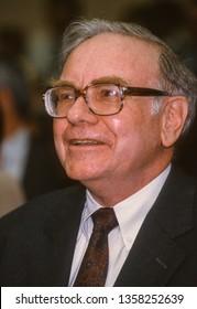 WASHINGTON, DC, USA - SEPTEMBER 4, 1991: Warren Buffett, interim Chairman Solomon Brothers, testifies before Congress.