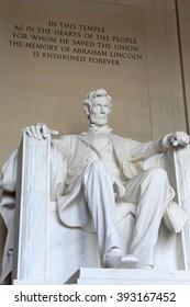 WASHINGTON DC, USA- Statue of Lincoln, September 10, 2012