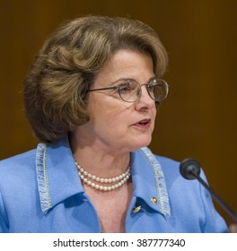 WASHINGTON, DC, USA - U. S. Senator Dianne Feinstein (D-CA) during confirmation hearing, U. S. Supreme Court nominee Judge John Roberts.