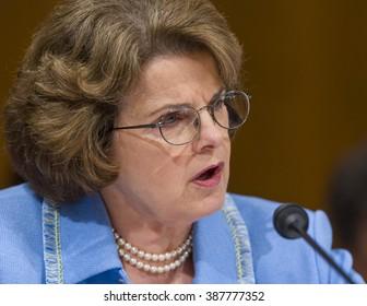 WASHINGTON, DC, USA - U. S. Senator Dianne Feinstein (D-CA) during confirmation hearing, U. S. Supreme Court nominee Judge John Roberts.