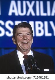 Washington DC. USA,1984President Ronald Reagan portraits