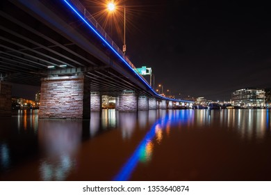 Washington, DC's 14th Street Bridge at Night