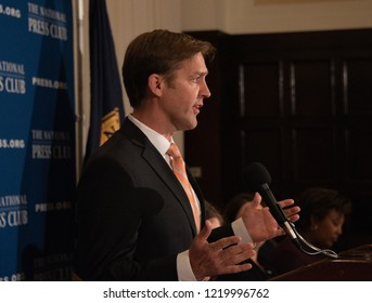 Washington, DC/United States - October 31, 2018: Senator Ben Sasse speaks to a luncheon at the National Press Club