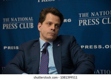"Washington, DC/USA - April 26, 2018: Anthony Scaramucci, former White House Communications Director, answers reporters' questions at a National Press Club ""newsmaker"" press conference"