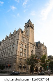 Washington, D.C./USA -- August 10, 2018: The Trump International Hotel in late afternoon.