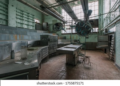 Washington D.C./USA - August 16, 2016: Inside St. Elizabeth's Hospital, Blackburn Laboratory in Washington D.C., where lobotomist Walter Freeman worked for nearly a decade autopsying human brains