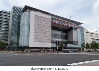 Washington, DC/USA - circa July 2015: Newseum in Washington, DC
