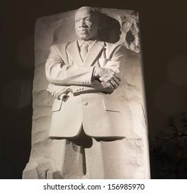 WASHINGTON DC,USA - FEB 19: Martin Luther King Jr. Monument in Washington DC , at night United States.Washington DC on February 19, 2012.