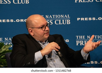 Washington, DC/USA - February 11, 2019: Washington Post Reporter and former prisoner in Iran Jason Rezaian speaks about his new book PRISONER at the National Press Club
