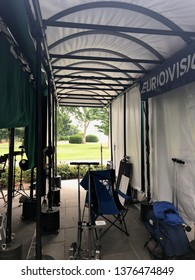 Washington DC,USA - June 16,2017:Inside the TV broadcast location at the White House.
