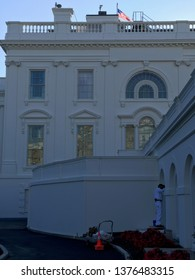 Washington DC,USA - Sep 15,2017:White House west of a clear morning.