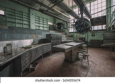 Washington D.C./USA - September 3, 2016: Inside St. Elizabeths Hospital where Walter Freeman first pioneered the transorbital lobotomy and where the OSS experimented with truth serums during WWII