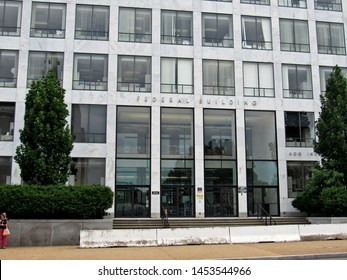 Washington, D.C./USA-7/16/19: The federal office building at 600 Independence Ave., S.W. that houses the Federal Aviation Administration.