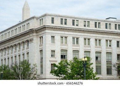 WASHINGTON, DISTRICT OF COLUMBIA - APRIL 14: View of the Department of Agriculture Building on April 14, 2017