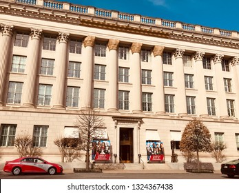 Washington, District of Columbia, USA - February 26 2019: Headquarters of U.S. Chamber of Commerce, the main lobbying organization of U.S. business and corporations