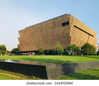 Washington, District of Columbia, USA - May 18, 2019: The Museum of African American History in Washington, DC