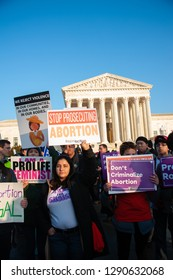 WASHINGTON JANUARY 18:  Pro-life supporters participate in the March for Life in Washington, DC on January 18, 2019