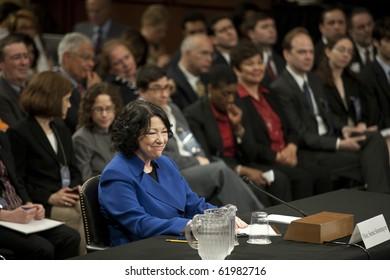 WASHINGTON - JULY 13 : US Supreme Court Nomimee hearing Sonia Sotomayor July 13, 2009 in Washington, DC