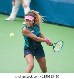 WASHINGTON – JULY 31: Naomi Osaka (JPN) defeats Bernarda Pera (USA) at the Citi Open tennis tournament on July 31, 2018 in Washington DC