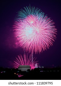WASHINGTON - JULY 4: Fireworks explode over the national mall on July 4th, 2012 in Washington.