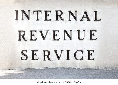 WASHINGTON - JUNE 1: Internal Revenue Service sign on June 1, 2014 in Washington, DC.