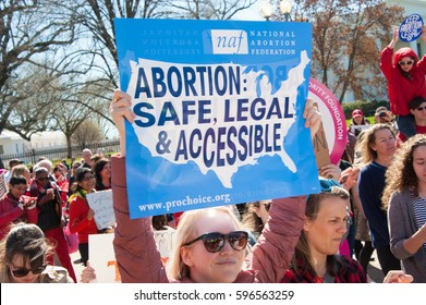 WASHINGTON MARCH 8: Demonstrators rally in support of abortion and other women's rights, and against President Trump's administration, on March 8, 2017, International Women's Day, in Washington, DC