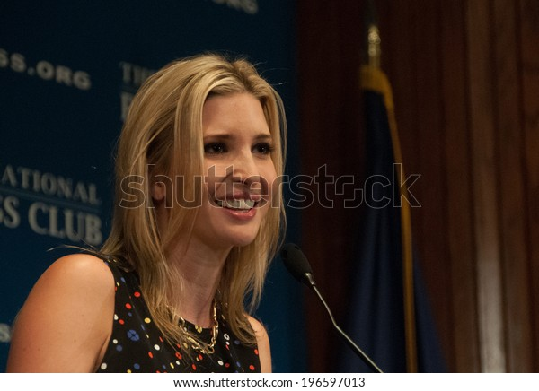 WASHINGTON - MAY 27, 2014 - Ivanka Trump, daughter of real estate mogul Donald Trump speaks at a National Press Club luncheon.