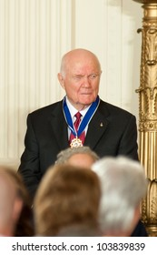 WASHINGTON - MAY 29: Former astronaut and U.S. Senator John Glenn waits after receiving the Presidential Medal of Freedom at a ceremony at the White House May 29, 2012 in Washington, D.C.