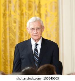 WASHINGTON - MAY 29: John Doar waits prior to receiving the Presidential Medal of Freedom ceremony at the White House May 29, 2012 in Washington, D.C.