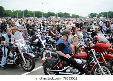 WASHINGTON - MAY 29 :Riders prepare for the annual Rolling Thunder rally to remember POWs and MIAs of the Vietnam War May 29, 2011 in Washington, D.C.