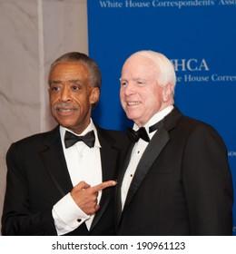 WASHINGTON MAY 3 -�� Al Sharpton and John McCain arrive at the White House Correspondents� Association Dinner May 3, 2014 in Washington, DC
