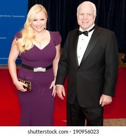 WASHINGTON MAY 3 -�� John McCain and Meghan McCain arrive at the White House Correspondents� Association Dinner May 3, 2014 in Washington, DC