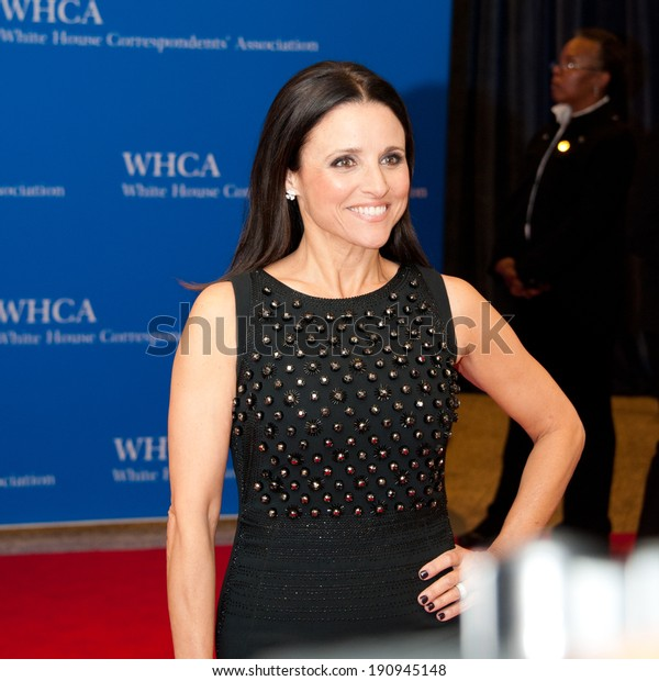 Washington May 3 Julia Louisdreyfus Arrives Stock Photo