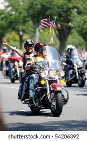 WASHINGTON - MAY 30 : Riders take part in the Rolling Thunder rally May 30, 2010 in Washington, D.C.