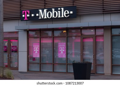 WASHINGTON - MAY 7, 2018: FCC chairman Ajit Pai met Tuesday with the chief executives of Sprint Corp and rival T-Mobile US Inc. who are seeking approval for a $26 billion merger.