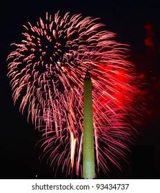 Washington Monument Fireworks display July 4th 2010