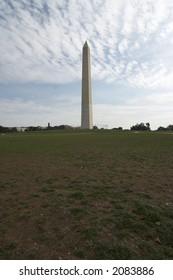 washington monument, the large white colored obelisk