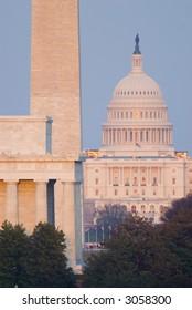 Washington Monument Mall Lincoln Capitol Night DC travel series 37