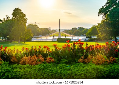 The Washington Monument is an obelisk on the National Mall in Washington, D.C., built to commemorate George Washington, once commander-in-chief of the Continental Army and the first president.