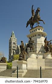 Washington Monument and Old City Hall Capital Square Richmond Virginia