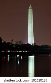 Washington Monument Post Office Building Cherry Blossoms Tidal Basin Night Washington DC